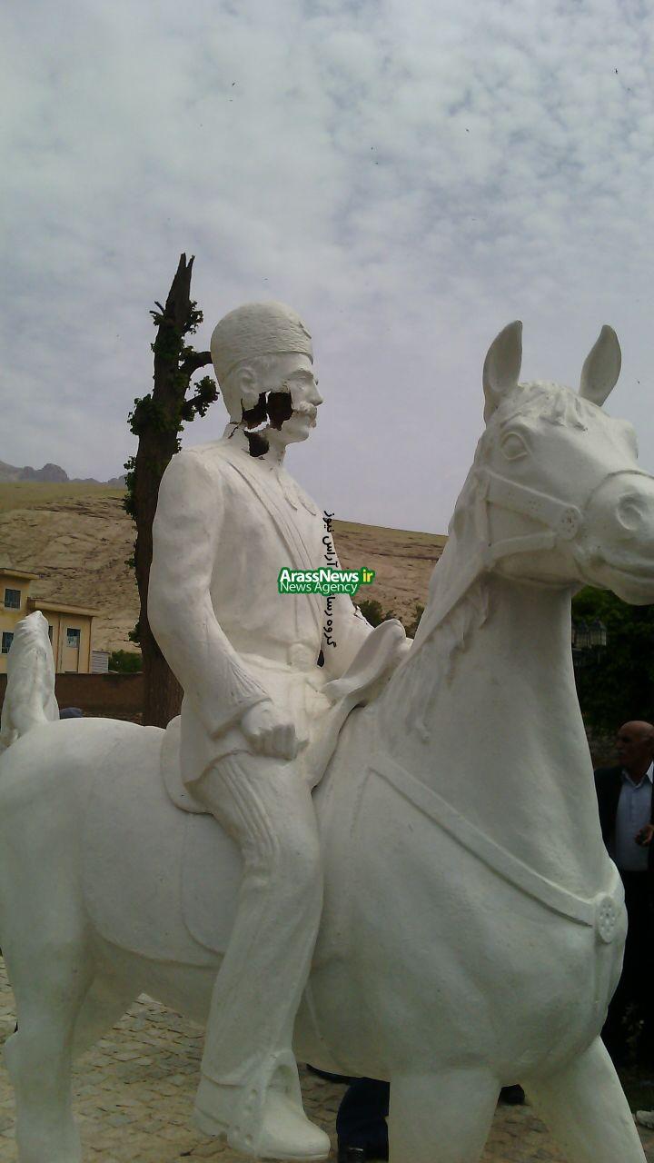 خودسر هایی که مجسمه سردار اسعد را تخریب کردند